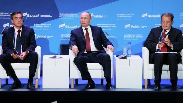 В.Путин на заседании дискуссионного клуба Валдай