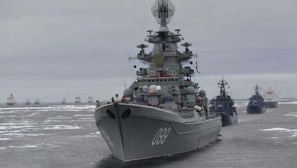 Ледокольная проводка кораблей и судов Северного флота к Новосибирским островам, архивное фото