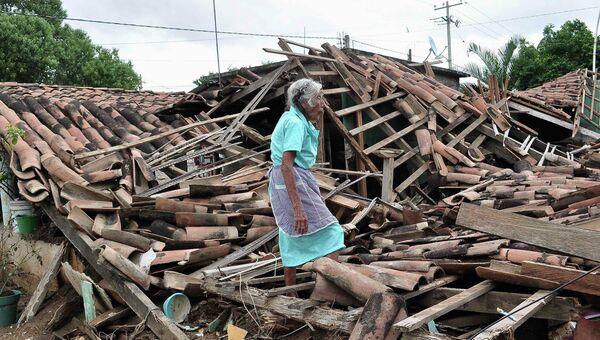 Последствия урагана в Мексике, фото с места события