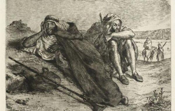 Эжен Делакруа. Арабы из Орана. 1847