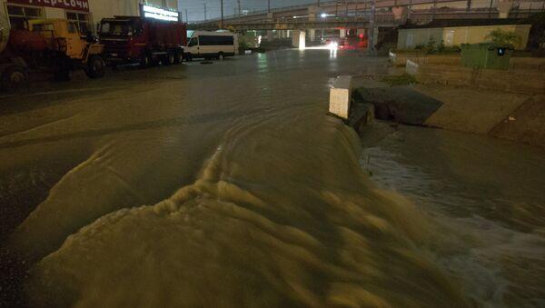 Последствия ливней в Сочи, фото с места событий