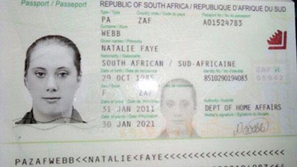 Копия фальшивого паспорта Саманты Льютвэйт