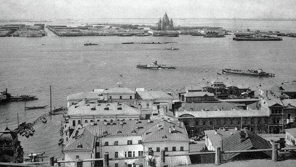Вид на ярмарку и город Нижний Новгород, архивное фото