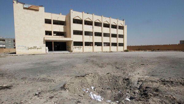 Школа после авианалета в сирийском городе Эр-Ракка