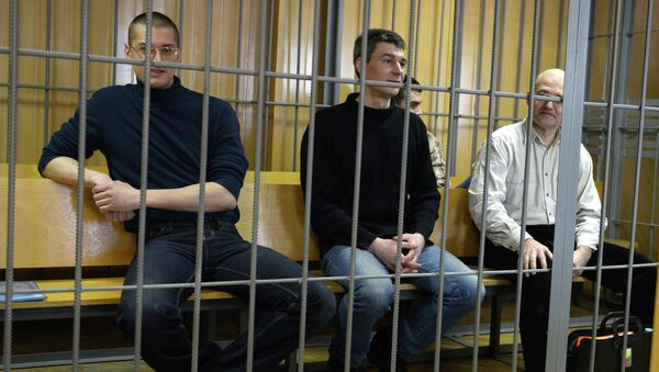 Обвиняемые в организации беспорядков на Болотной площади. Архивное фото