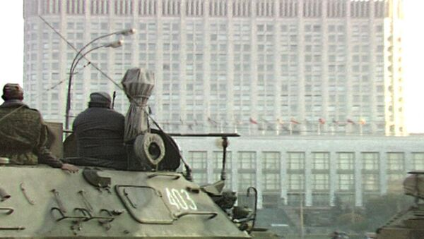 Россия на грани гражданской войны. Съемки 3-4 октября 1993 года