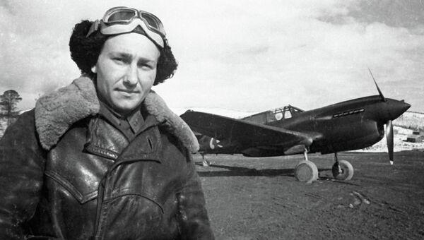 Герой Советского Союза, летчик Алексей Хлобыстов, архивное фото