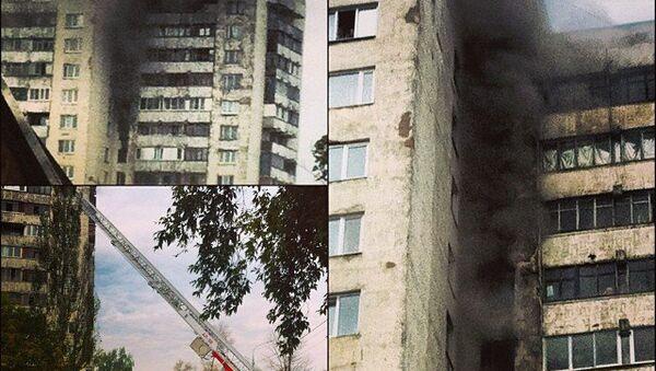 Жителей многоэтажки в Лосино-Петровском эвакуируют из-за пожара