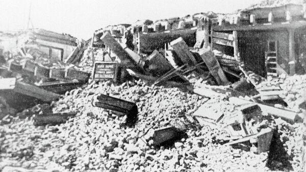 Последствия землетрясения в Ашхабаде 6 октября 1948 года. Архивное фото