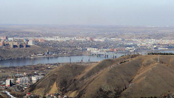 Вид на город Красноярск. Архивное фото