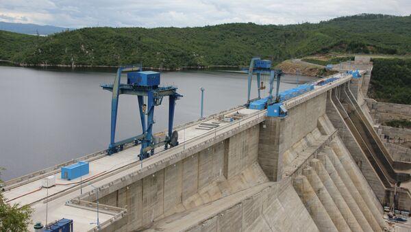 Бурейская ГЭС, архивное фото