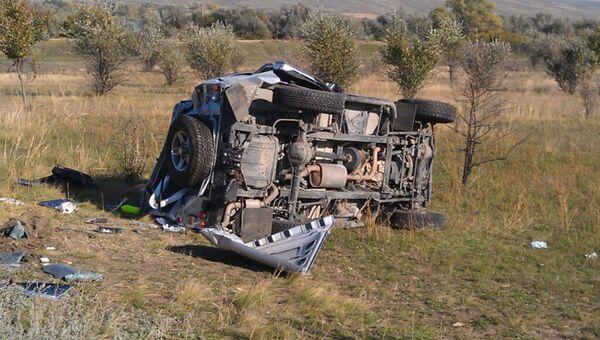 На месте аварии с участием автомобиля мэра Железноводска. Архивное фото