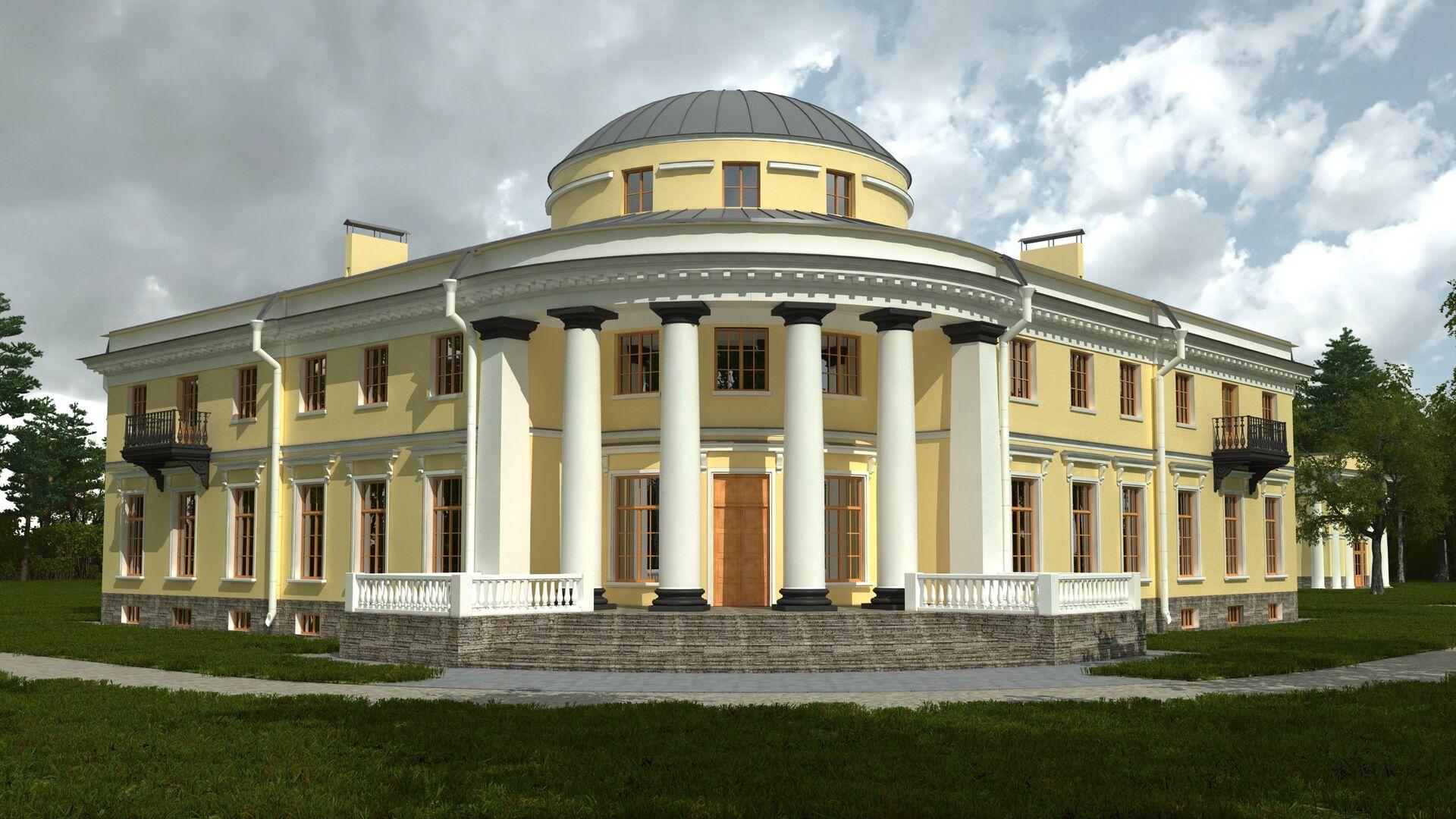 Усадьба Уткина дача. Проект - РИА Новости, 1920, 01.09.2021