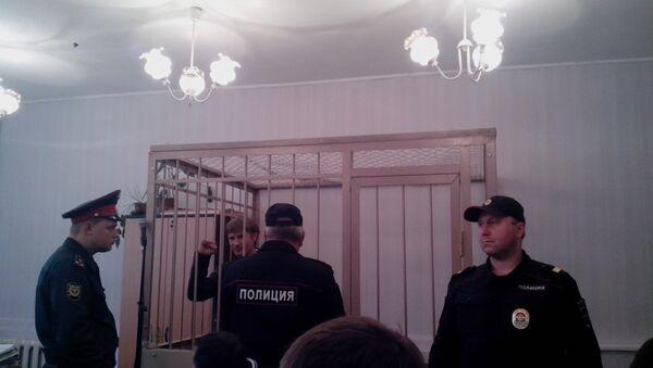 Во время судебного заседания Выборгского районного суда Петербурга. Архивное фото