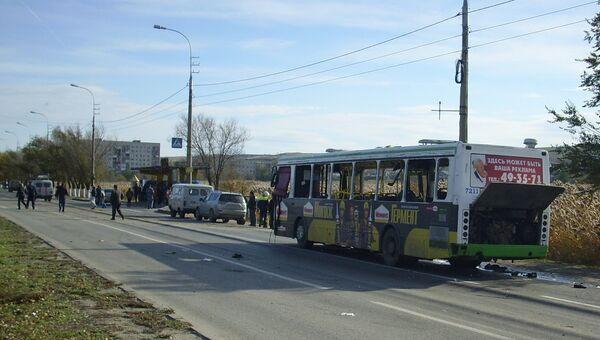 Взрыв в пассажирском автобусе в г. Волгоград. Архивное фото