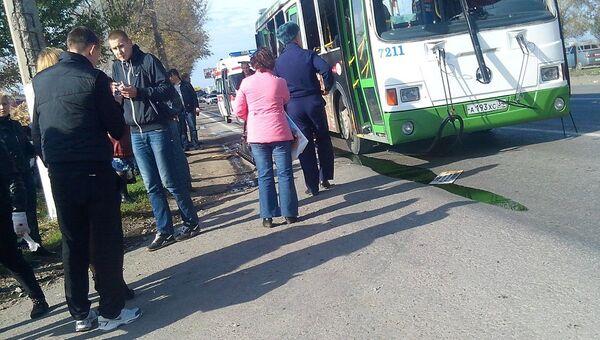 На месте взрыва пассажирского автобуса в Волгограде