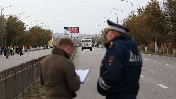 На месте взрыва автобуса в Волгограде. Архивное фото