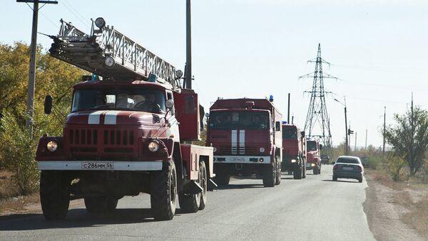 Автомобили пожарной службы, архивное фото