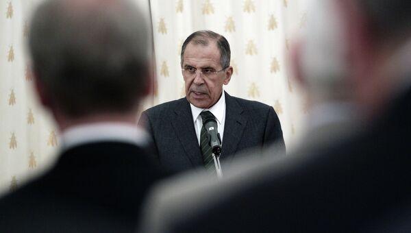 С.Лавров выступил на торжественном вечере в особняке МИД