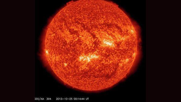 Рентгеновская вспышка на Солнце. Архивное фото