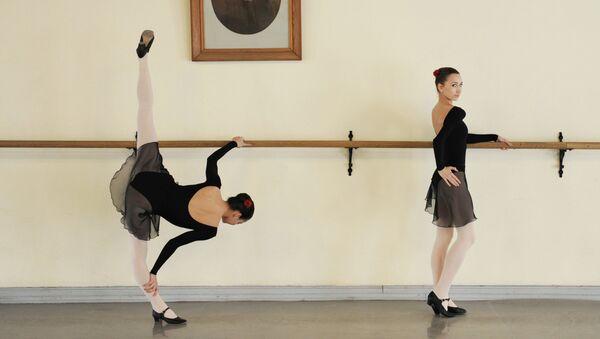 На занятиях в Академии русского балета имени А.Я. Вагановой