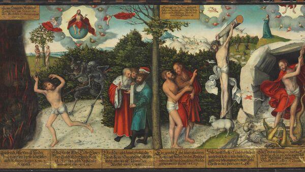 Лукас Кранах Старший. Закон и благодать. 1536