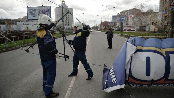Последствия урагана Святой Иуда в Великом Новгороде, фото с места события