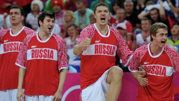 Российские баскетболисты, архивное фото
