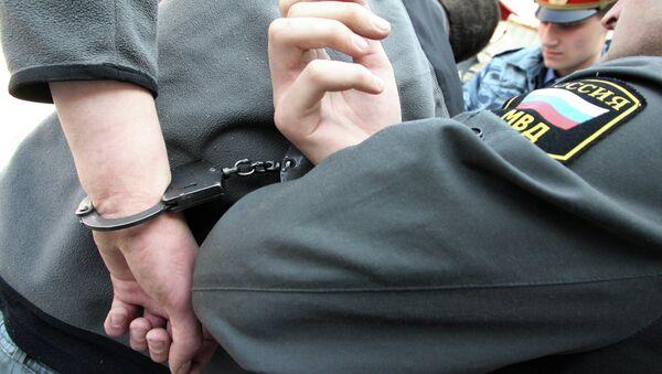 Задержание подозреваемого, архивное фото