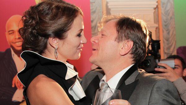 Музыкант Игорь Бутман с супругой Оксаной