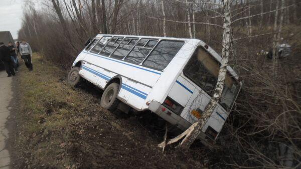 ДТП с пассажирским автобусом на трассе в Тульской области. Фото с места события