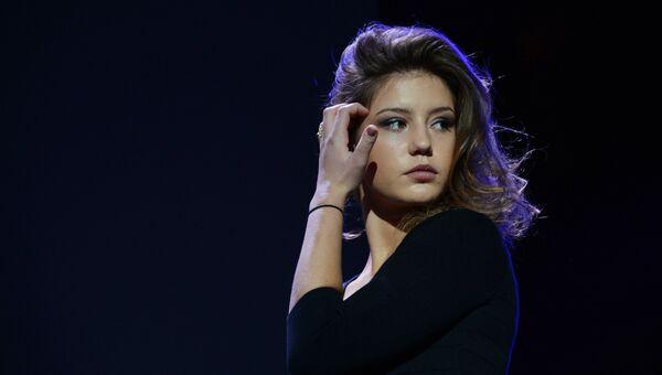 Актриса Адель Экзаркопулос на премьере фильма Жизнь Адель в рамках открытия Гоголь-кино