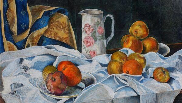 Работа художника Владимира Николаевича Соколова, представленная на выставке Впечатления