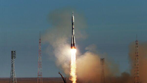 Старт РН Союз-ФГ с пилотируемым кораблем Союз ТМА-11М, фото с места события