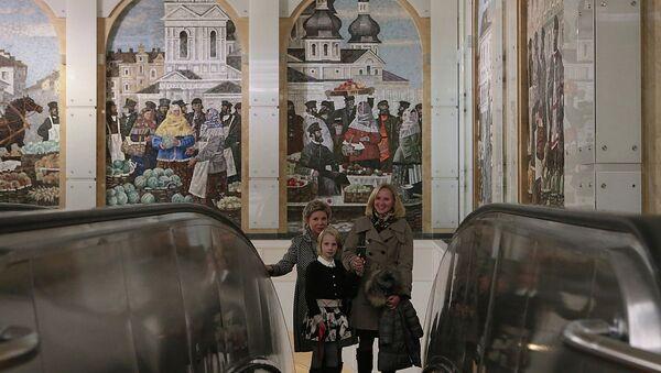 Станция метро Спасская в Петербурге. Архивное фото