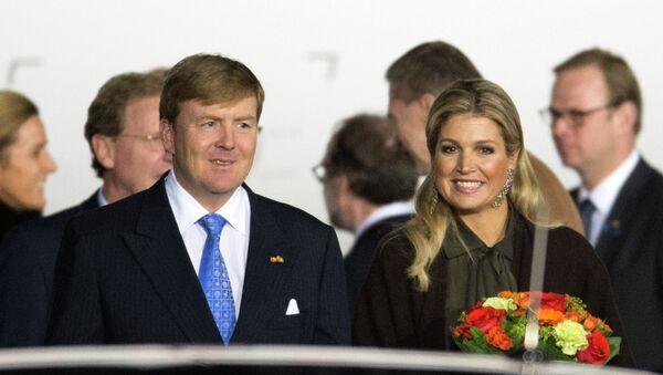 Король Нидерландов Виллем-Александр и королева Максима прибыли в Россию