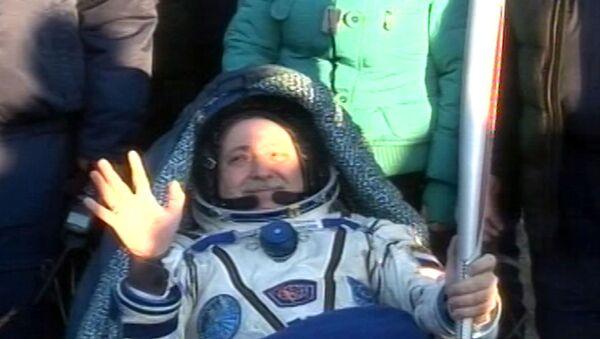 Из космоса на Землю: возвращение экипажа МКС с олимпийским факелом
