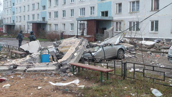В поселке Загорские Дали на севере Московской области, где произошел взрыв бытового газа.