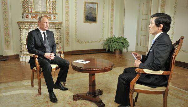 В.Путин дал интервью южнокорейской телерадиокомпании KBS