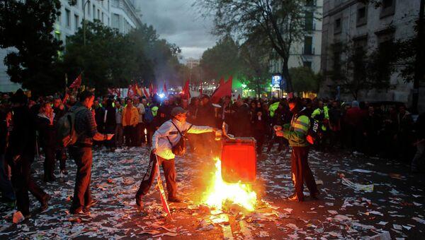 Забастовка дворников в Мадриде