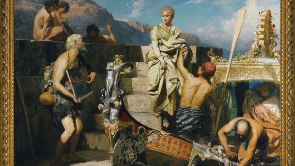 Картина Генриха Семирадского Потерпевший кораблекрушение (Римский нищий)