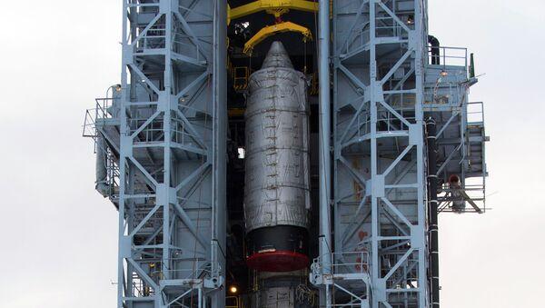 Ракета Рокот на стартовой площадке космодрома Плесецк, архивное фото