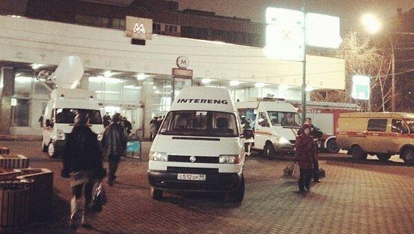 Станция Шаболовская в Москве закрыта из-за задымления
