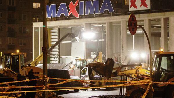 Обрушение крыши торгового центра в Риге. Архивное фото