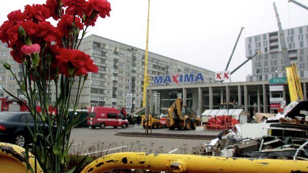 Обрушение крыши торгового центра в Риге, архивное фото