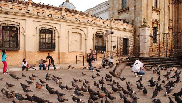 Центральная площадь столицы Гватемалы, архивное фото