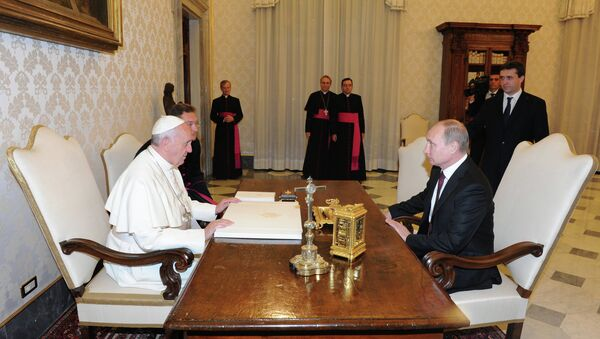 Визит В.Путина в Ватикан. Фото с места событий