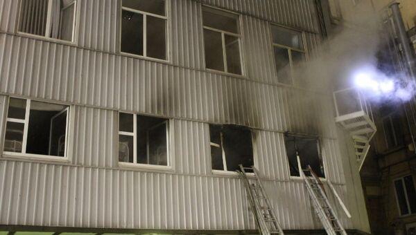 Пожар в здании лофта Этажи в Петербурге. Фото с места события