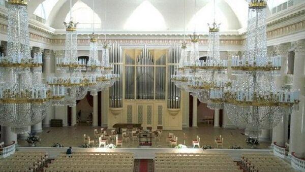 Большой зал Петербургской академической филармонии имени Д. Д.  Шостаковича, архивное фото