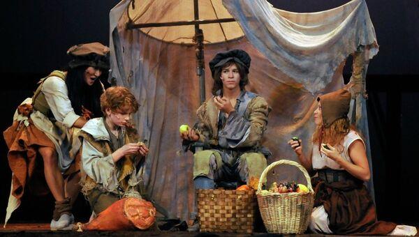 Сцена из спектакля Принц и нищий